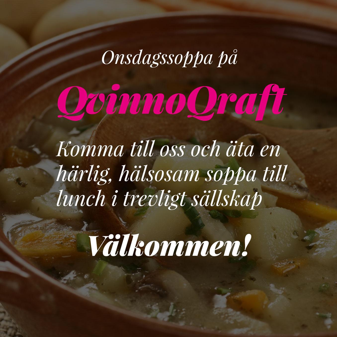 Onsdags soppa på QvinnoQraft