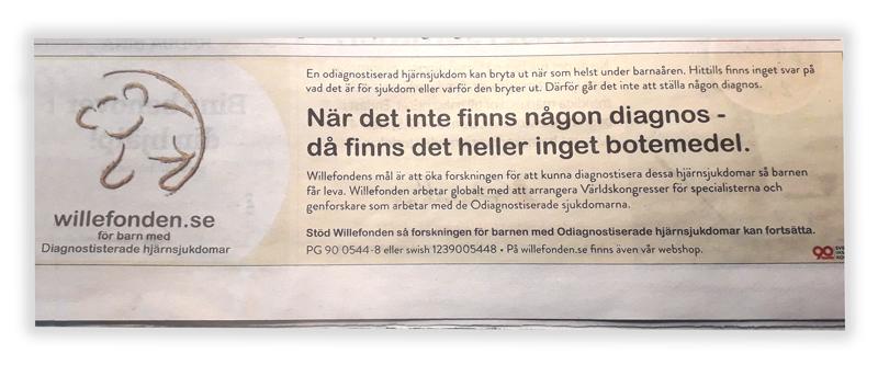 Annons Willefonden