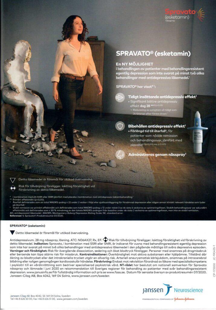 Annon för Spravato (Esketamin)