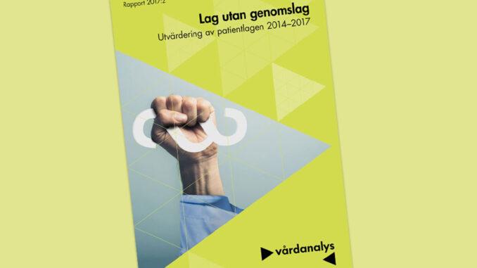 Patientlagen - lag utan genomslag enligt Vårdanalys rapport